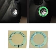 Автомобильный светящийся брелок для ключей, кольцевая наклейка, светящаяся Крышка зажигания, наклейка на мотоцикл#1# kui