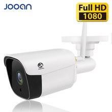 Jooan wi fi ao ar livre câmera ip 1080 p 2.0mp à prova dwireless água sem fio de segurança câmera metal 20m visão noturna cartão tf registro p2p bala