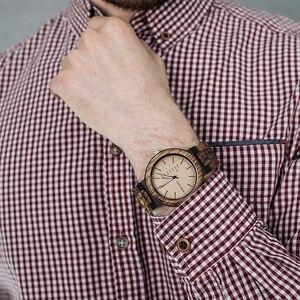 Image 5 - Классические мужские деревянные часы BOBO BIRD под заказ и деревянные солнцезащитные очки, костюм, подарок на день отца