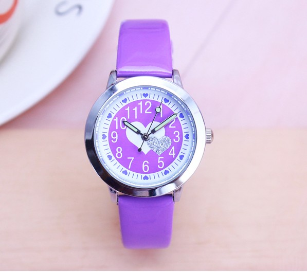 New Arrived Kids Lovely Animals Simple Design Quartz Watch Boys And Girls Cute Butterfly Dial Learn To Time Leather Gift Clock
