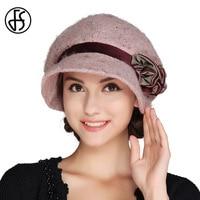 2017 Autumn Winter Female Berets Octagonal Wool Felt Hat Church Hat For Lady Floppy Bucket Bowler