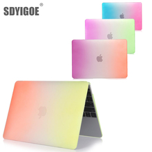 Laptop Hard Cover Case For MacBook Pro 12 Inch with retian For Model: A1534 A1931 matte Gradient color shell computer casings