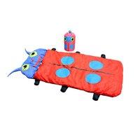 Outdoor Travel Camping Sleepover Warm Cartoon Infant Children Insect Beetle Sleeping Bedding Bag Sack Pocket