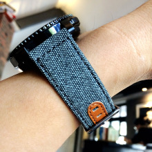 22mm Nylon Watch Strap For Huawei Woven Nylon+Leather Band Samsung Gear S3 Huami 1 2 Watchbands Bracelet