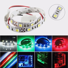 25CM SMD 5050 Non-Waterproof LED Flexible Strip Light PC Computer Case Adhesive Lamp 12V rgb led strip light full kit led lights for pc case sata power supply interface remote control pc computer case adhesive tape