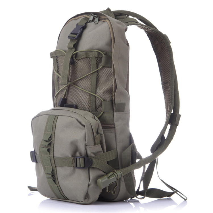 High Quality Nylon Airsoft Mochilas Rucksack Riding Pack Soft handle Travel Hydration Bag Backpack with water bladder