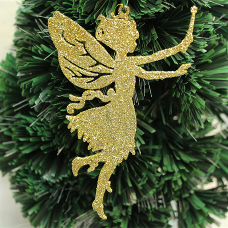 Angel Shaped Christmas Tree.Us 0 9 47 Off 1pc Christmas Tree Decorations Supplies Size 14x9cm Angel Shaped Christmas Decoration Powder Christmas Tree Pendant Adornments In