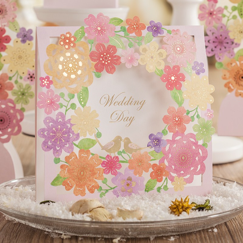 Buy wedding invitations light pink and get free shipping on ...