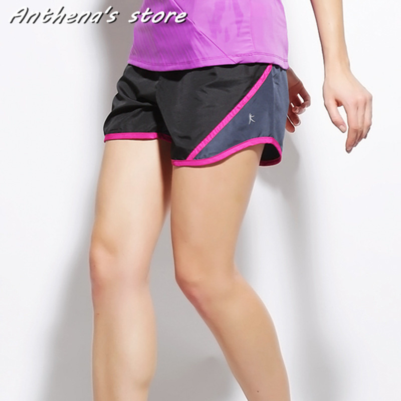 2016 Brand Summer Sports Women Shorts Leisure Elastic Waist Women Shorts Female Yo-Ga Running Short Feminino chic mid waist button design ripped denim shorts for women