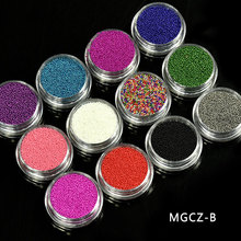 12 Box Caviar Manicures Pedicures Decal  Nail Art 3d Decorations Brand Charms Tiny Beads #MGCZ