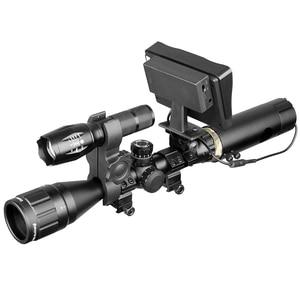 Image 5 - 850nm Infrarood DIY Nachtzicht Apparaat Sight Scope Dag Nacht Outdoor Dual Gebruik Lcd scherm & Laser Zaklamp & Camouflage tape