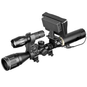 Image 5 - 850nm infrarrojo DIY dispositivo de visión nocturna mira día noche al aire libre doble uso pantalla LCD y linterna láser y camuflaje cinta