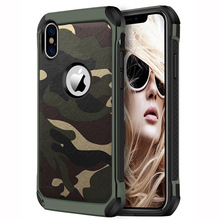 Army Camo Camouflage Case For iPhone 7 8 6 6S Plus iPhone 11 Pro 4 5 5S SE Shockproof Armor Case For iPhone XS Max XR Back Cover tempered glass case for iphone xr x xs max 11 pro max flower shockproof case for iphone 6 6s 7 8 plus 5 5s se color back cover