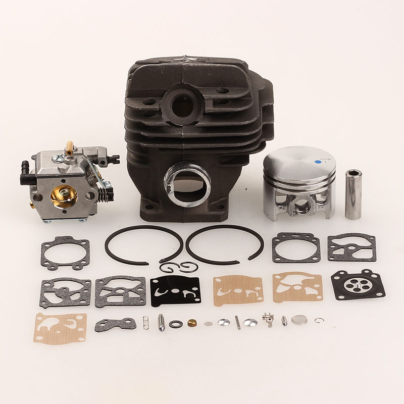 все цены на 44mm Cylinder Piston Ring + Carburetor Gasket Kit For STIHL 026 MS260 260 Replaces 1121 020 1208 Chainsaw Parts онлайн