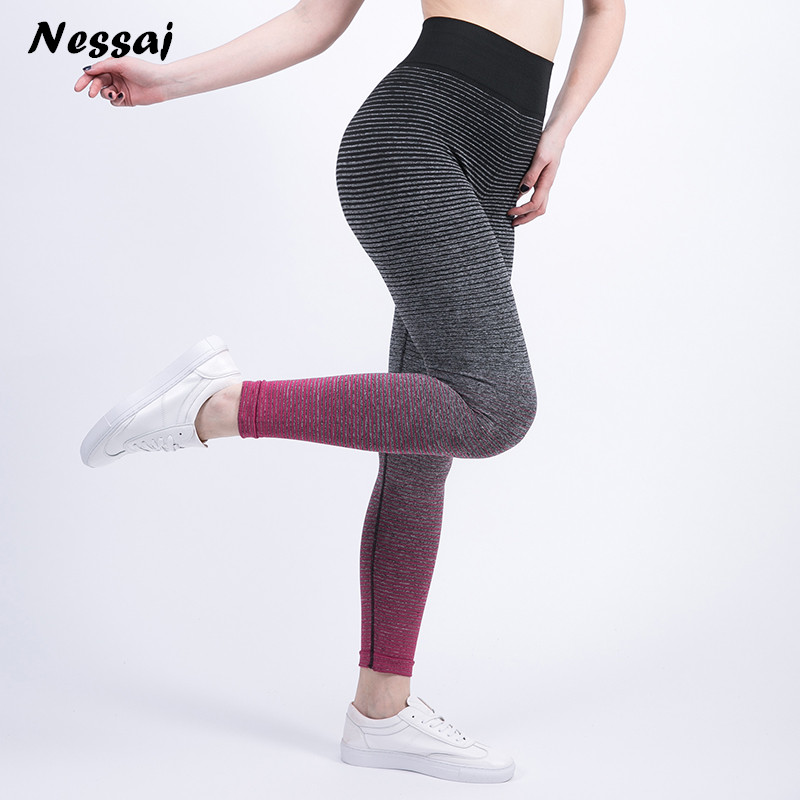 Nessaj 2018 Women Sexy Leggings Stretchy High Waist Stretch Plus Size Push Up Cropped Activity Legging Trousers Leggings