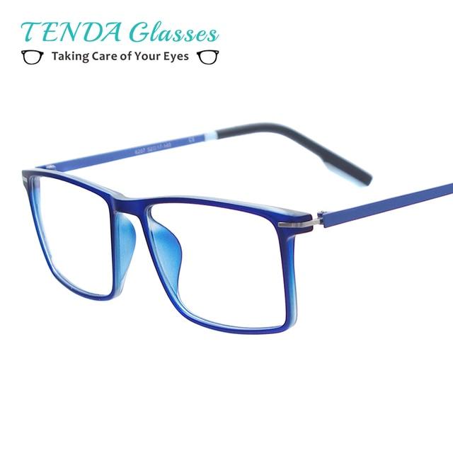 Homens Coloridos Leves Óculos de Tamanho Médio Quadrado Óculos De Plástico  Óculos de Armação Para Lentes 73b91e552a