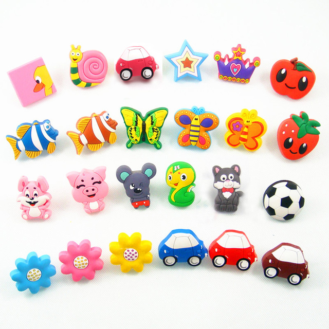 Merveilleux 10PCS Soft Rubber Cute Cartoon Cabinet Cupboard Door Handles Knob Kids Room  Furniture Handle Wardrobe Dresser