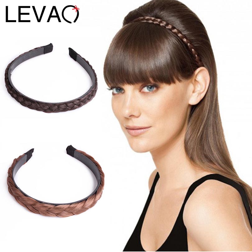 LEVAO Fashion Women Wig Twist Hairbands Toothed Non-slip Headbands Girls Braid Hair Accessories Adjustable Head Bezel   Headwear