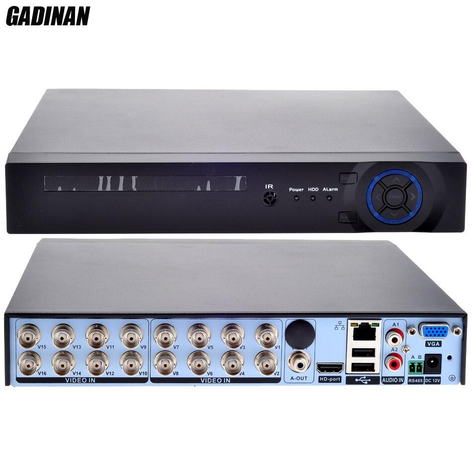 GADINAN 16 каналов AHD 1080N DVR/сети только 8*1080 P; 16*960 P; 4*3 м; 4*5 м CCTV видео Регистраторы DVR HVR 3 в 1 безопасности Системы