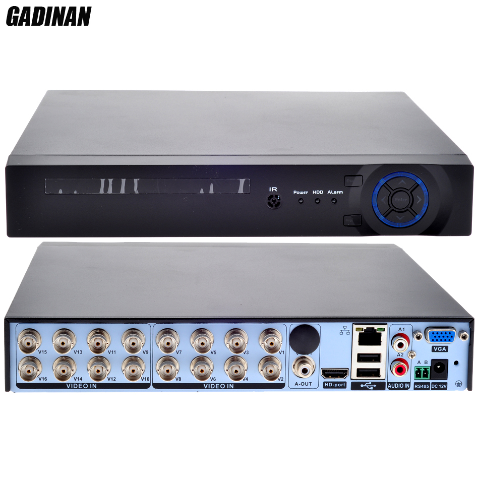 GADINAN 16 Channel AHD 1080N DVR /Network only 8*1080P;16*960P;4*3M;4*5M CCTV Video Recorder DVR NVR HVR 3 In 1 Security System
