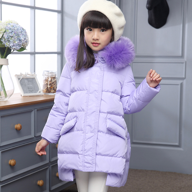 Down Jacket Children's Clothing White Duck Down New Year  A Lively Girl Dressed Down Jacket  In Park Happy To Play lole брюки ssl0009 lively pants 35 in xs black
