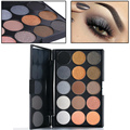 Professional 15 Colors Essential Matte Shimmer Eye Shadow Palette Make Up Smoky Cat Eyes Cosmetic Kit