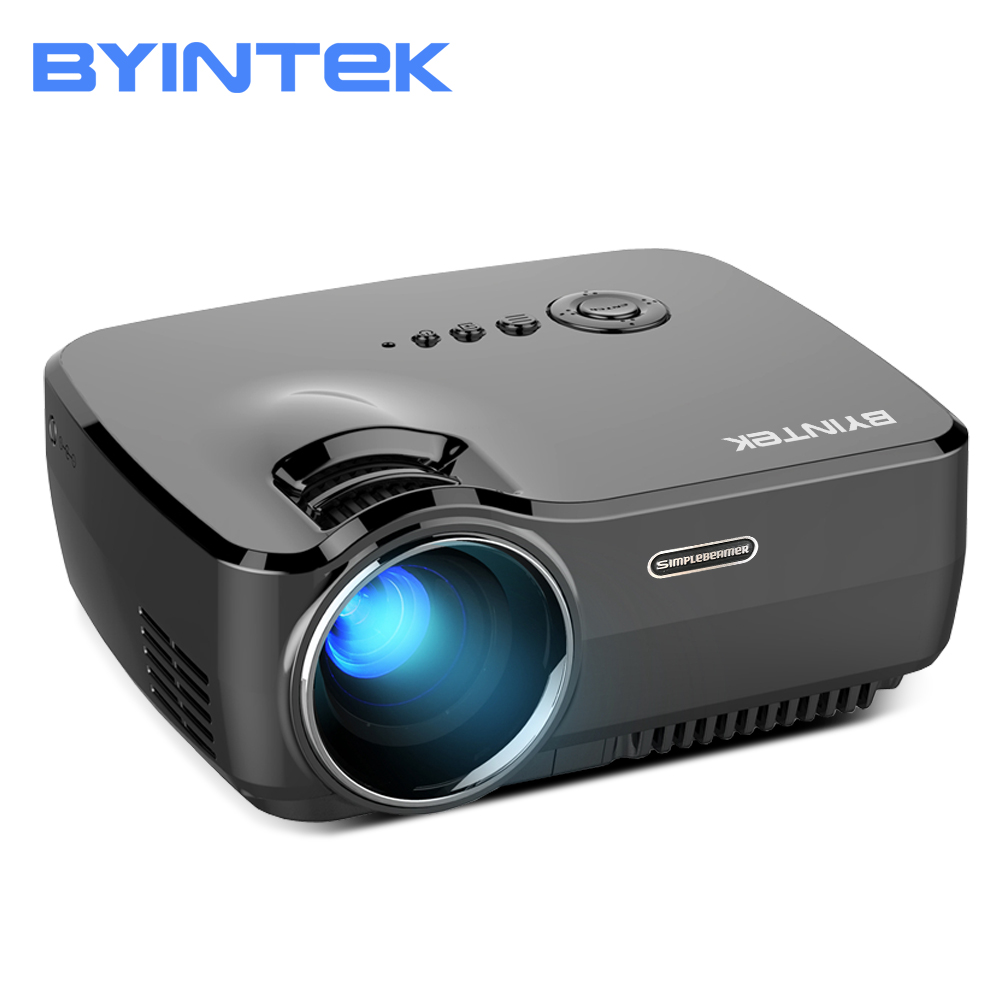 BYINTEK Märke SKY GP70 Bärbar Mini LED Cinema Video Digital HD Hemmabio Projektor Beamer Proyector med USB HDMI