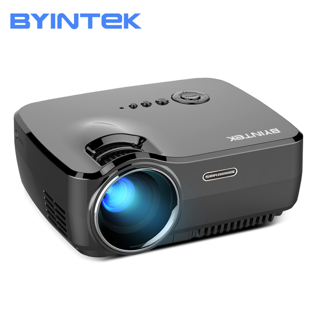 BYINTEK Marca CÉU GP70 Portátil Mini LED de Vídeo Cinema Digital HD Projetor Home Theater Beamer Proyector com USB HDMI
