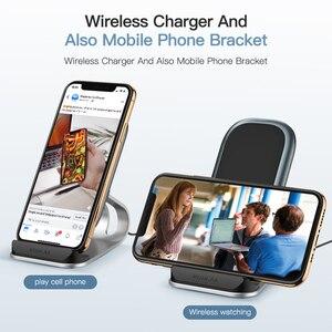 Image 3 - Bezprzewodowa ładowarka KUULAA Qi 10W dla iPhone X XS 8 XR Samsung S9 Xiaomi szybka bezprzewodowa ładowarka stacja dokująca uchwyt telefonu ładowarka