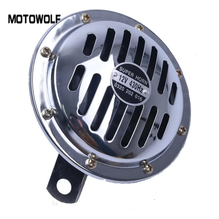 90 Degree Mount 12 Volt 12V Motorcycle Scooter Horn 0935 Chrome /& Black