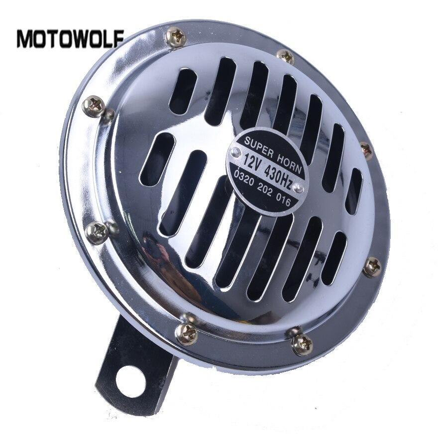 125mm Elektrische Lufthorn 12 V Laut Chrom Farbe Aluminiumspule Fahrzeuge Autos Lkw Motorräder für Kawasaki Z750 für ford F-150