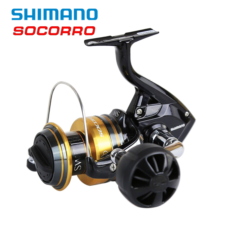 Shimano SOCORRO SW 5000-8000 Fishing Reels 4+1BB 4.9:1 X-Ship Cross Carbon Drag Big Sea Saltwater Spinning Fishing Reel Pesca