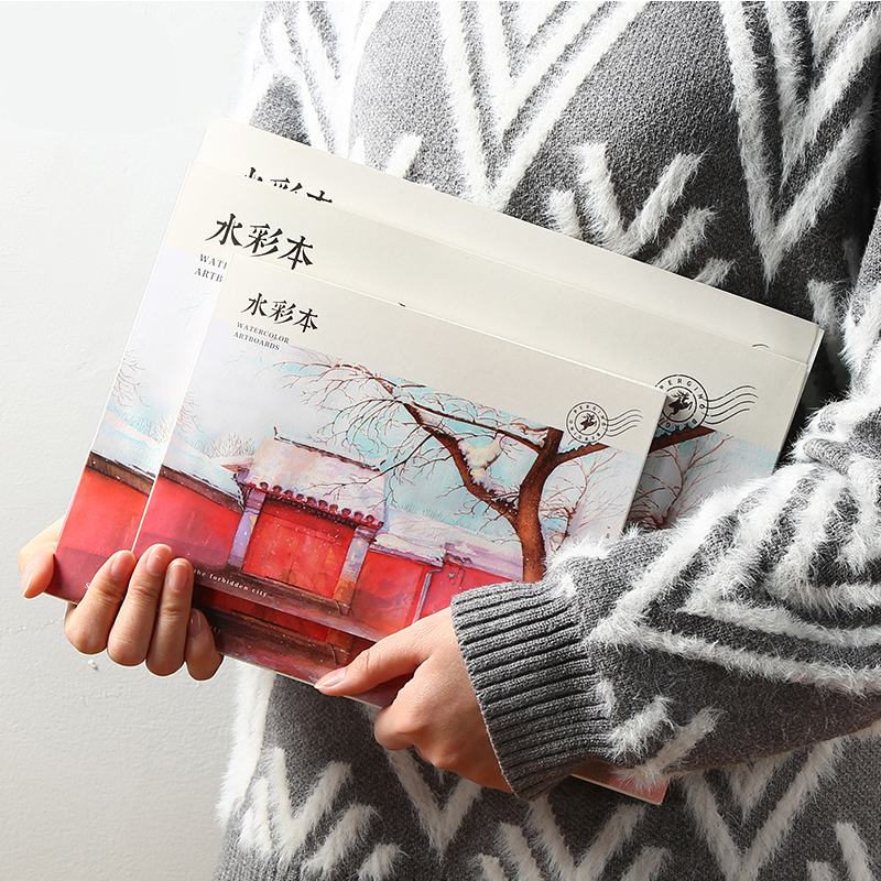 Clearance SalePainting-Book Postcard Watercolor-Pad Sketch Creative Graffiti 20sheets Hand-Painted