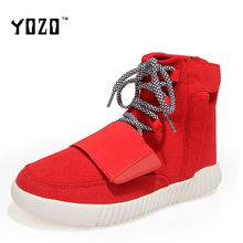 YOZO Men Shoes Fashion High Top Hip Hop Unisex Lovers Shoes Flat Casual Shoes Martin Boots Leisure Brand Shoes