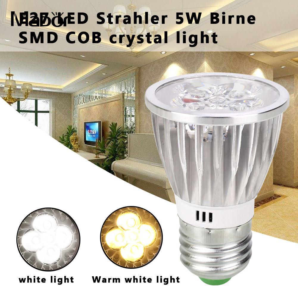 Long Life Bright Spotlight Bulb LED Bulb White/ Warm White 220V 5W 6.8*4.6*4.6cm Lighting Fixture Room Lighting Indoor Outdoor