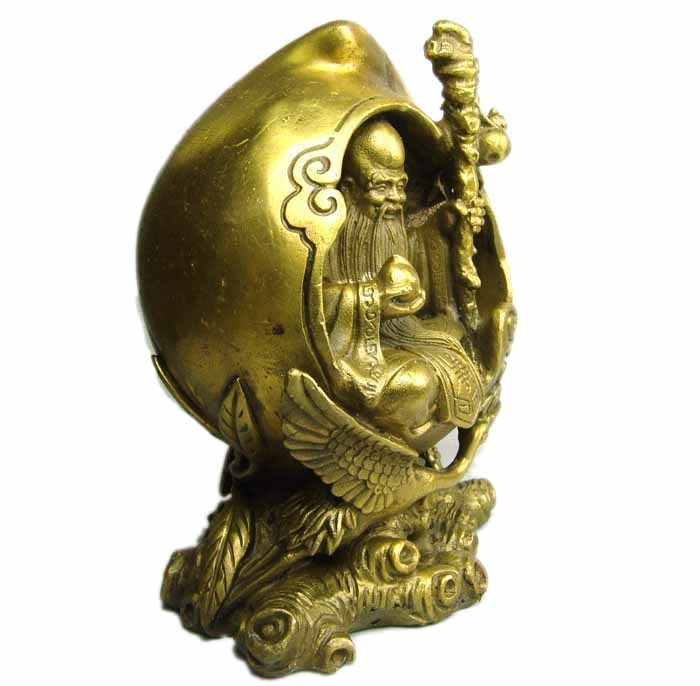 Free Shipping Jade copper feng shui decoration 17cm sent to the old man