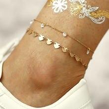 Новые браслеты на ногу браслет с подвеской из искусственных