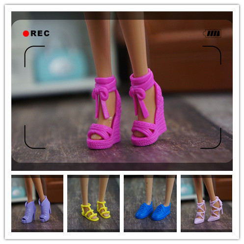 2019 New 1/6 Fashion Doll Shoes High Quality Muti-colors High-heeled Shoes 30cm Doll Flats Princess Shoes For Barbie Doll
