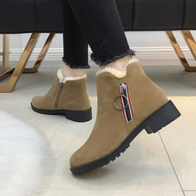 New Martin Boots Autumn Winter Women Warm Fur Ankle Snow Flats Boots Classic Zipper Shoes Female Motorcycle Boots Botas Mujer fedonas new warm autumn winter snow shoes woman high heels zipper short martin boots retro punk motorcycle boots 2019 new shoes
