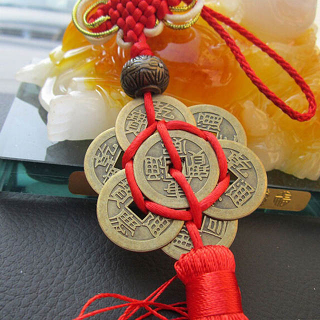 US $0 9 43% OFF|Feng Shui Chinese Knot Tassel China Mascot Lucky Charm  Ancient Coins Prosperity Protection Good Fortune Metal Car decoration-in