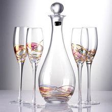 High grade wine Glasses Champagne Flutes Goblet Bubble Wine Tulip Cocktail Wedding Party Glass Cup home drinkware