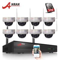 ANRAN H 264 1080P HD 8CH Wifi 2 0MP NVR Kits Wireless WIFI IP Camera 2MP