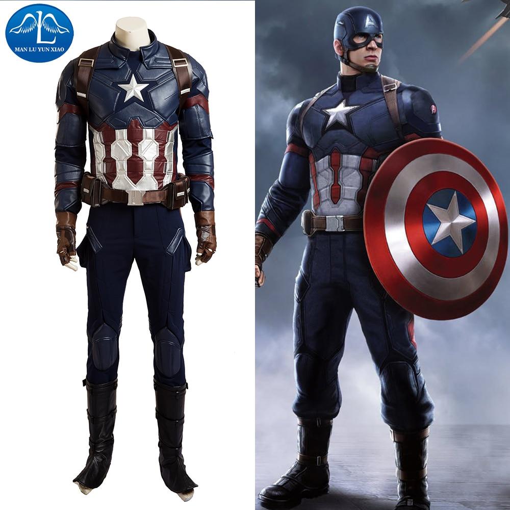 Captain America Civil War Cosplay Costume Men Full Set Captain America Costume Halloween Costumes For Men Customize Good Quality