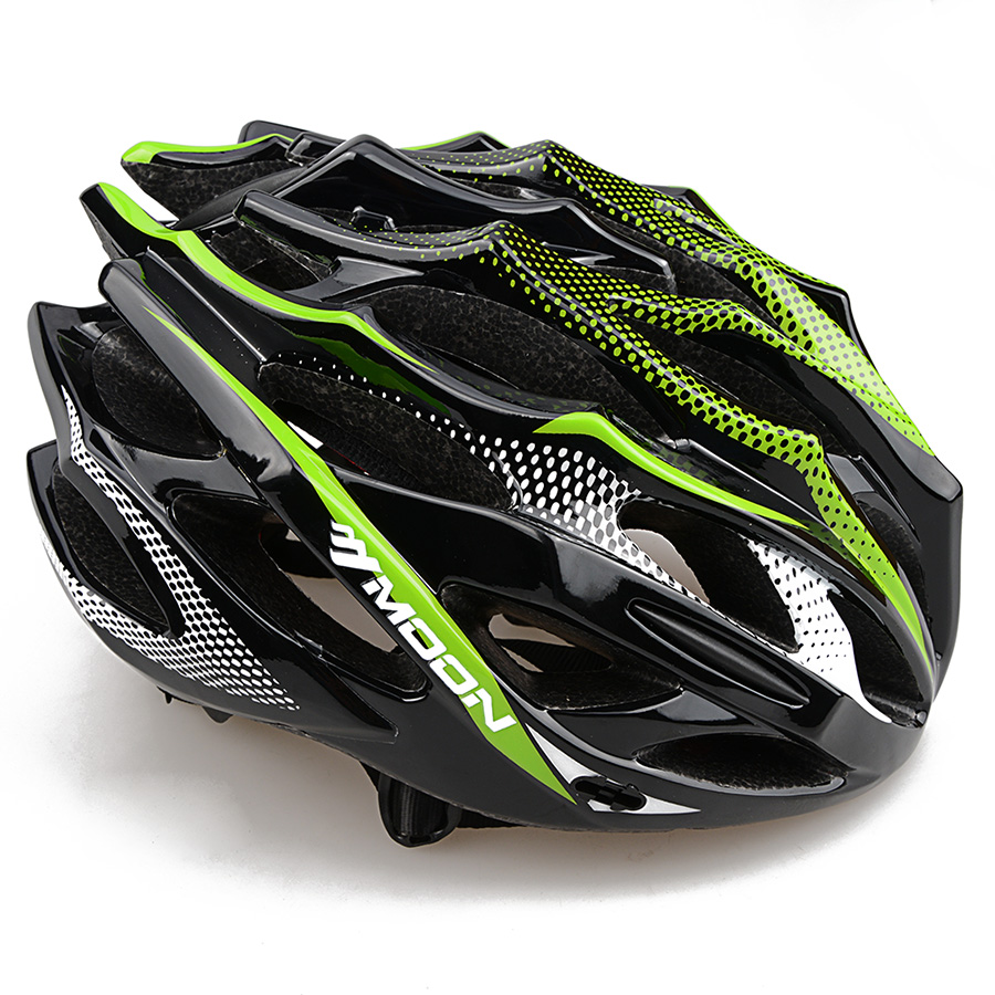 ФОТО MOON MTB Road Bike Bicycle Helmet 28 Vents 55-61cm EPS+PC Capacete Casco Ciclismo EPS+PC Sport Helm Cycling Mountain Helmets