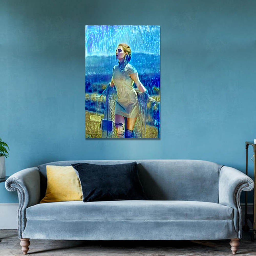 Unframed HD Canvas Prints Oil Painting Beautiful Woman Prints Wall Pictures For Living Room Wall Art Decoration Dropshipping