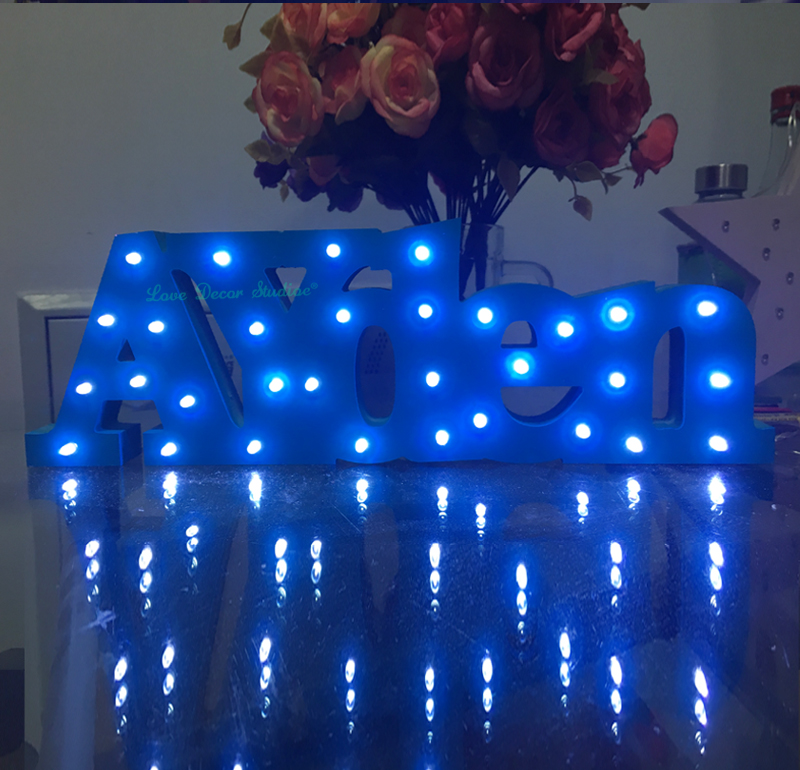 bespoke luxury gift light up letters bespoke light up name birthday gift name with led lights bedroom decoration christmas