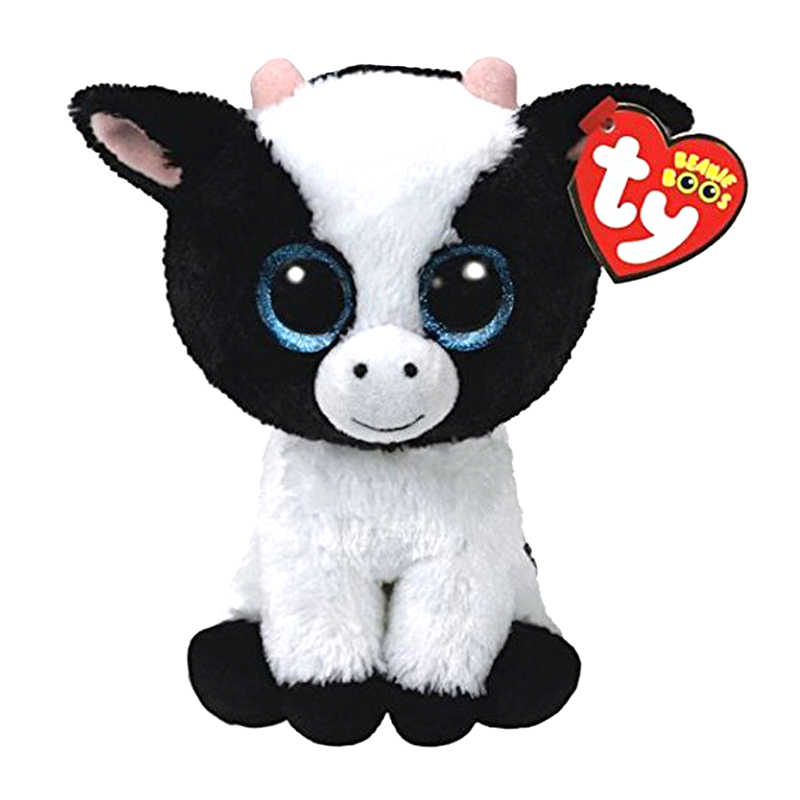 Ty قبعة ألعاب من نسيج مخملي البومة البطريق الكلب الزرافة القط الراكون الأغنام الخفافيش الماشية أفخم ألعاب حيوانات هدية للأطفال 15 سنتيمتر