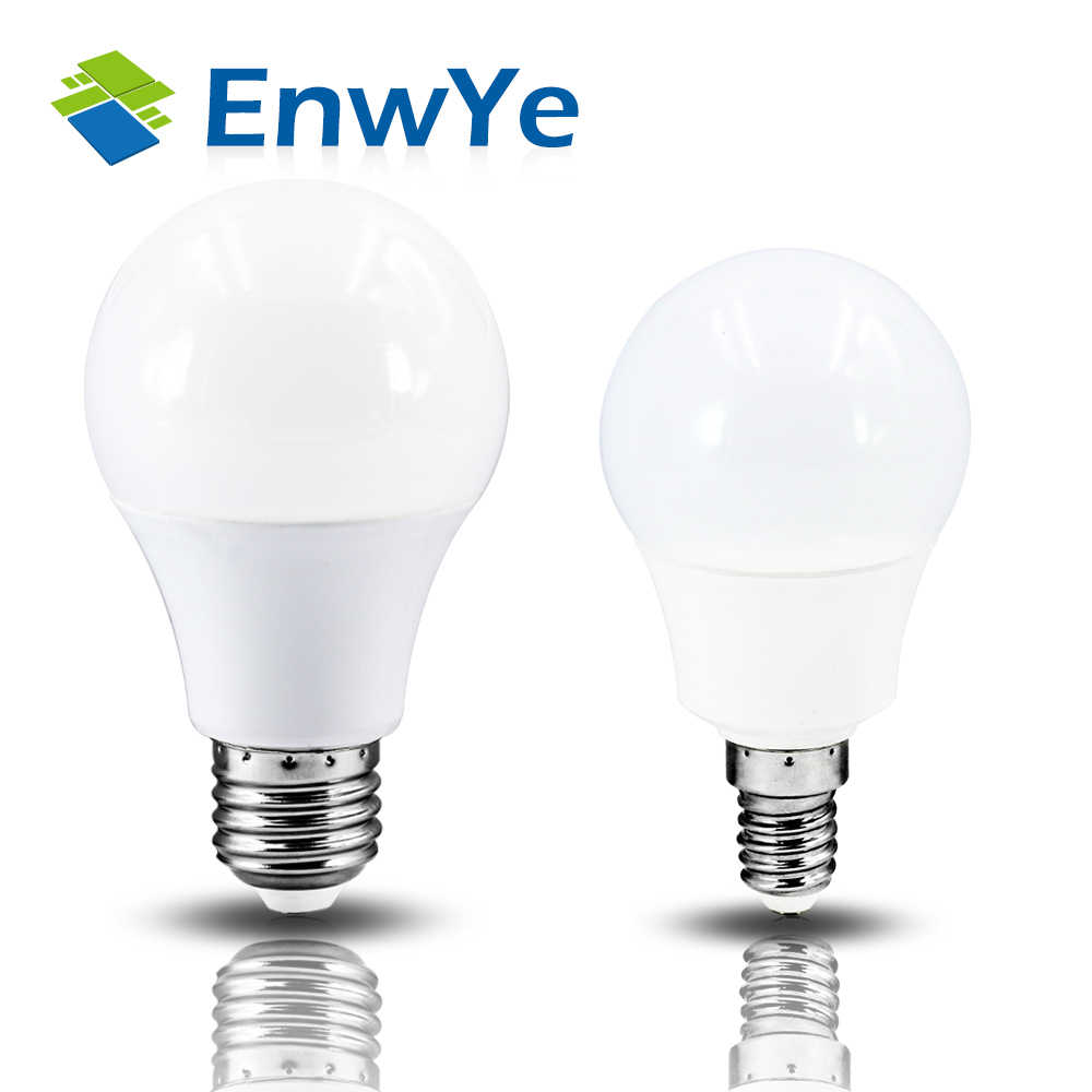 EnwYe LED E14 LED Light E27 LED Bulb AC 220V 230V 240V 60W 45W 35W 25W 20W 18W 15W 12W 9W 6W 3W Lampada LED Spotlight Table Lamp