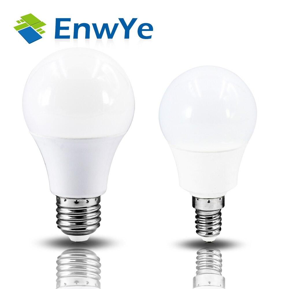 EnwYe светодиодный E14 светодиодный свет E27 светодиодный лампы AC 220V 230V 240V 60 Вт 45 Вт, 35 Вт, 25 Вт, 20 Вт, хит продаж 18 Вт 15 Вт 12 Вт 9 Вт 6 Вт 3 Вт Светодиодный точечный светильник Настольная лампа-in Светодиодные лампы и трубки from Лампы и освещение