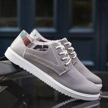 Fashion Men Canvas Shoes Low Top Casual Shoes Plimsolls Trainers Solid Male Plain Shoes Espadrilles Zapatillas Hombre XK032015